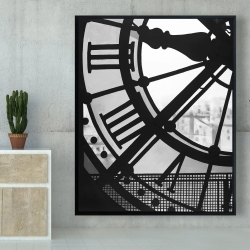 Framed 48 x 60 - Clock at the orsay museum