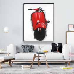 Framed 48 x 60 - Red italian scooter