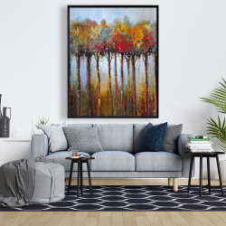 Framed 48 x 60 - Colorful leaves trees