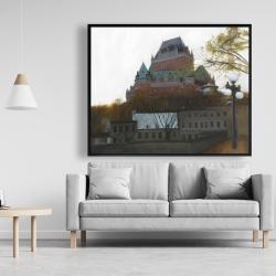Framed 48 x 60 - Le château de frontenac in autumn