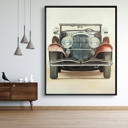 Framed 48 x 60 - Old 1920s luxury car