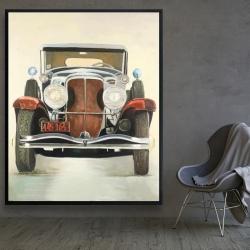 Framed 48 x 60 - Vintage luxury car