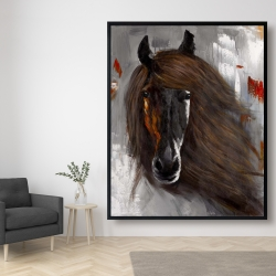 Framed 48 x 60 - Proud brown horse
