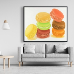 Framed 48 x 60 - Delicious macaroons
