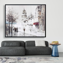 Framed 48 x 60 - Gray city street