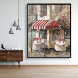 Framed 48 x 60 - Sunny restaurant terrace