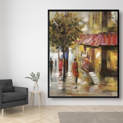 Framed 48 x 60 - Abstract street with passers
