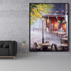 Framed 48 x 60 - Outdoor restaurant by a nice day