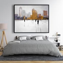 Framed 48 x 60 - City on the horizon