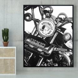 Framed 48 x 60 - Realistic motorcycle