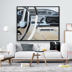 Framed 48 x 60 - 1950s car dashboard