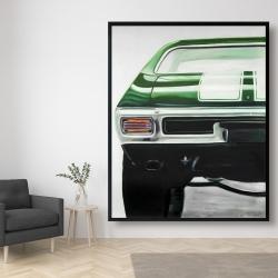 Framed 48 x 60 - Classic dark green car