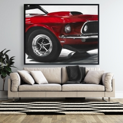 Framed 48 x 60 - Classic red car