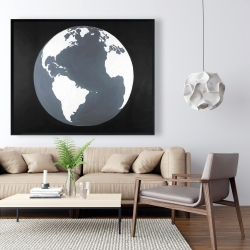 Framed 48 x 60 - Earth satellite view