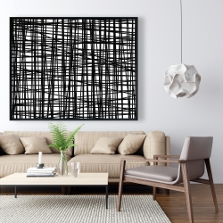 Framed 48 x 60 - Abstract small stripes