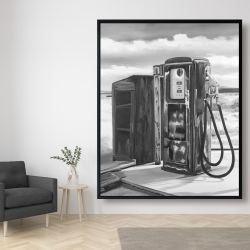 Framed 48 x 60 - Old gas pump