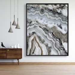 Framed 48 x 60 - Abstract geode