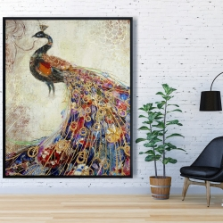 Framed 48 x 60 - Majestic peacock
