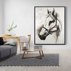 Framed 48 x 60 - Flicka the white horse