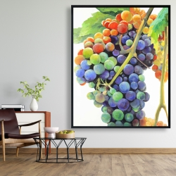 Framed 48 x 60 - Colorful bunch of grapes