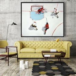 Framed 48 x 60 - Eventful hockey game