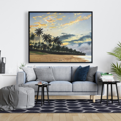 Framed 48 x 60 - Tropical summer moments