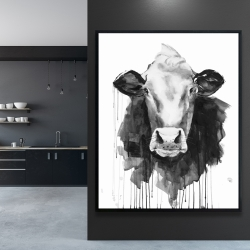 Framed 48 x 60 - Cow
