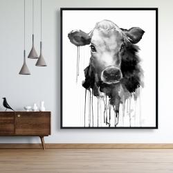 Framed 48 x 60 - Jersey cow