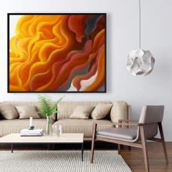 Framed 48 x 60 - Colorful smoke