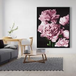 Framed 48 x 60 - Pink peonies