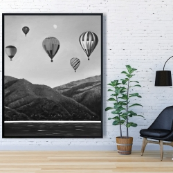 Framed 48 x 60 - Air balloon landscape