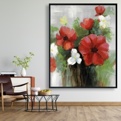 Framed 48 x 60 - Abstract wild flowers bundle