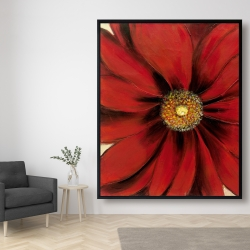 Framed 48 x 60 - Red daisy