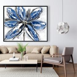 Framed 48 x 60 - Blue petal