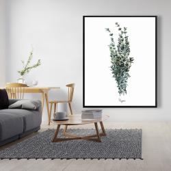 Framed 48 x 60 - Thyme leaves bundle - fr
