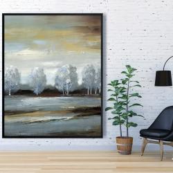 Framed 48 x 60 - Grey landscape