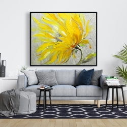 Framed 48 x 60 - Yellow flower