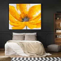 Framed 48 x 60 - Big yellow flower