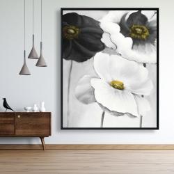 Framed 48 x 60 - Assorted white flowers