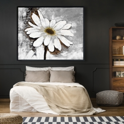 Framed 48 x 60 - Abstract daisy