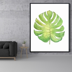 Framed 48 x 60 - Tropical leaf