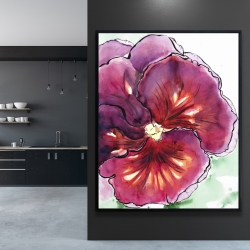 Framed 48 x 60 - Blossoming orchid with wavy petals