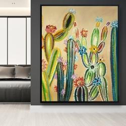 Framed 48 x 60 - Desert gems