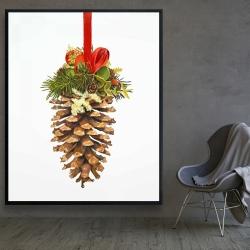 Framed 48 x 60 - Christmas pine cone
