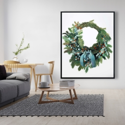 Framed 48 x 60 - Christmas wreath