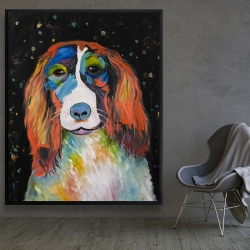 Framed 48 x 60 - Colorful dog