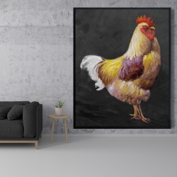 Framed 48 x 60 - Beautiful rooster 2