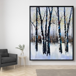Framed 48 x 60 - Frosted trees