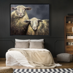 Framed 48 x 60 - Two sheeps