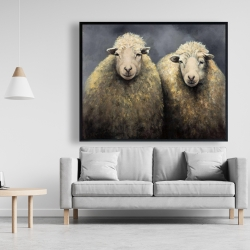 Framed 48 x 60 - Wool sheeps
